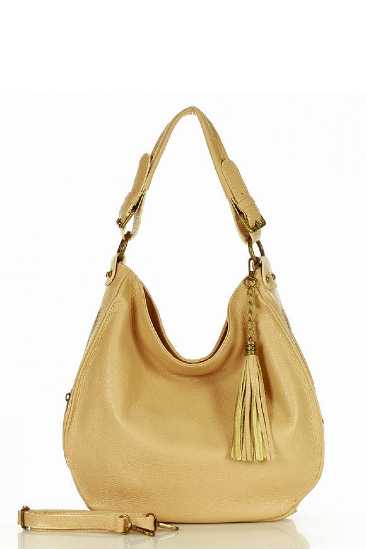 Přírodní kožená taška model 157874 Mazzini