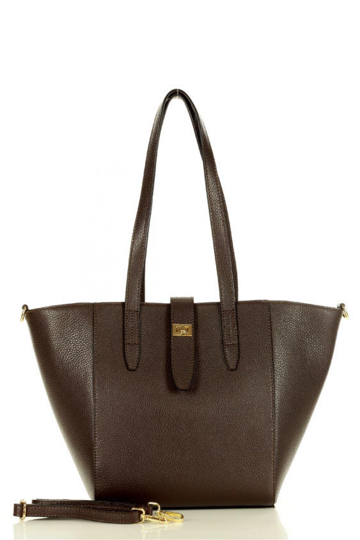 Přírodní kožená taška model 157876 Mazzini