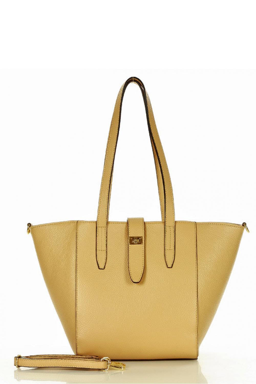 Přírodní kožená taška model 157877 Mazzini
