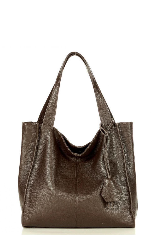 Přírodní kožená taška model 157879 Mazzini