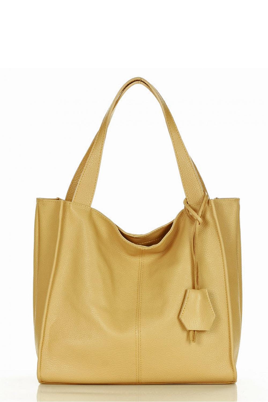 Přírodní kožená taška model 157880 Mazzini
