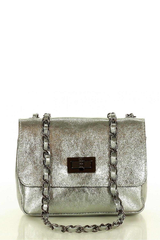 Přírodní kožená taška model 157942 Mazzini