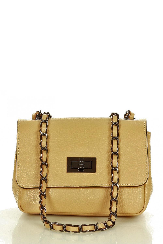 Přírodní kožená taška model 157943 Mazzini