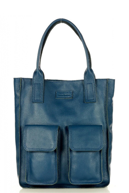 Přírodní kožená taška model 157944 Mazzini