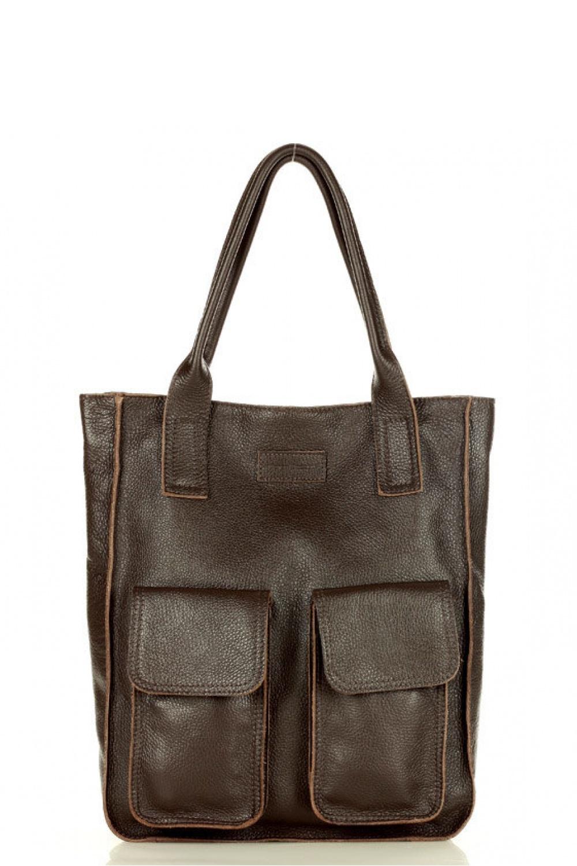 Přírodní kožená taška model 157945 Mazzini