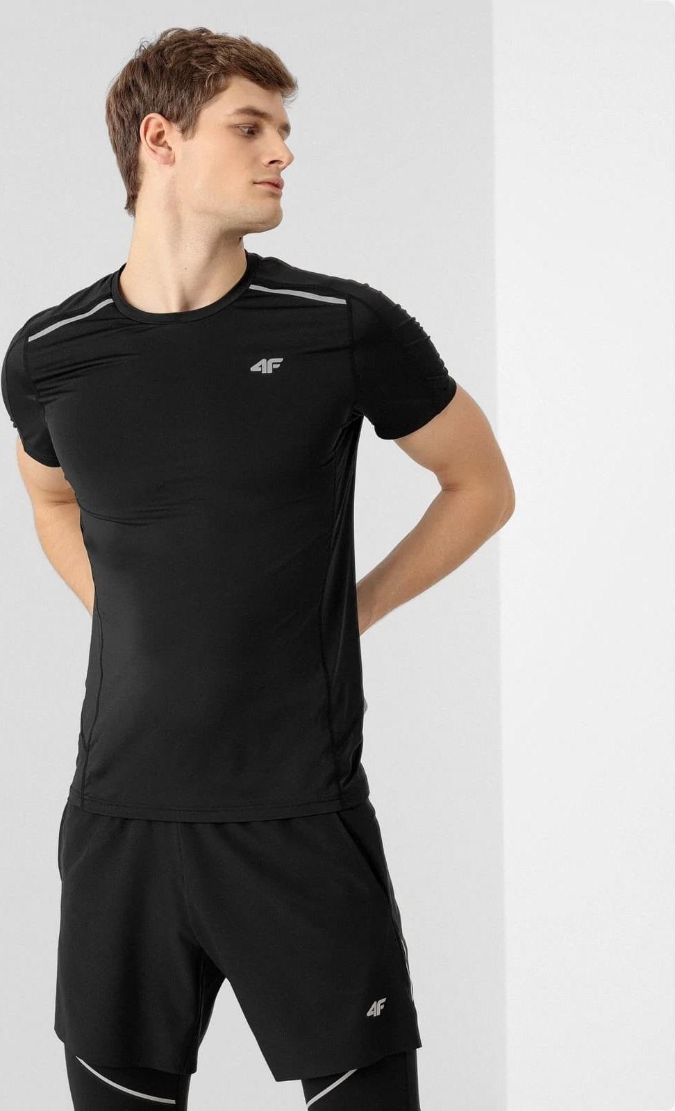 Pánské běžecké tričko 4F TSMF010 Černé