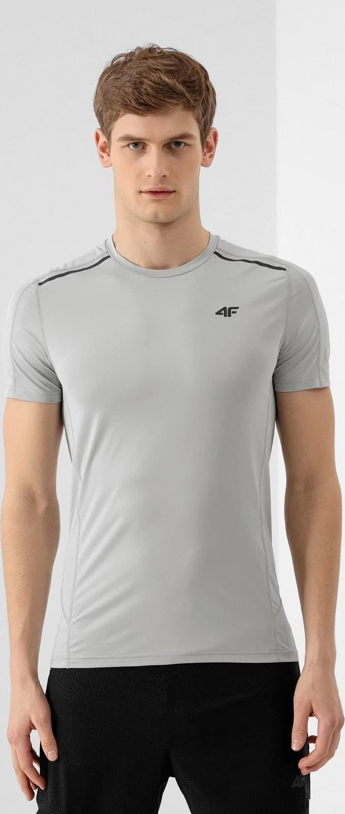 Pánské běžecké tričko 4F TSMF010 Šedé
