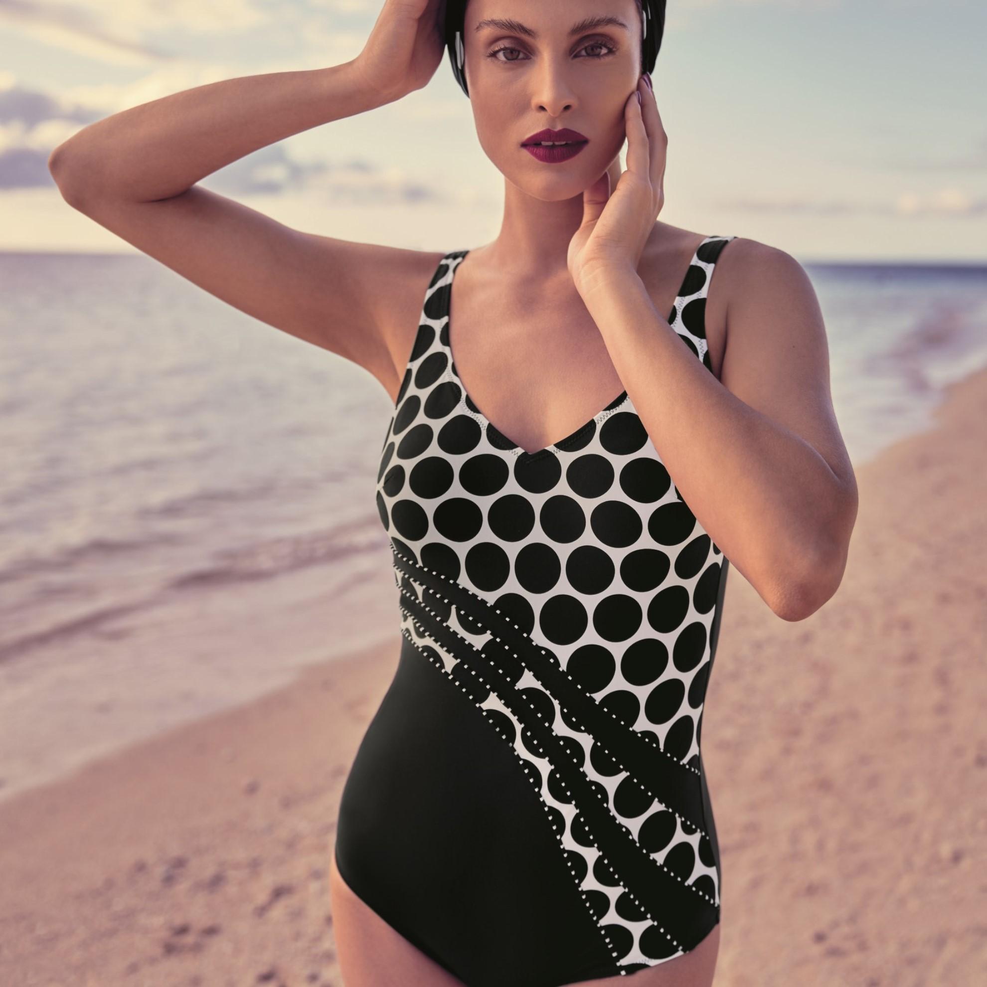 Luella jednodílné plavky 430 černobílá - Anita Classix