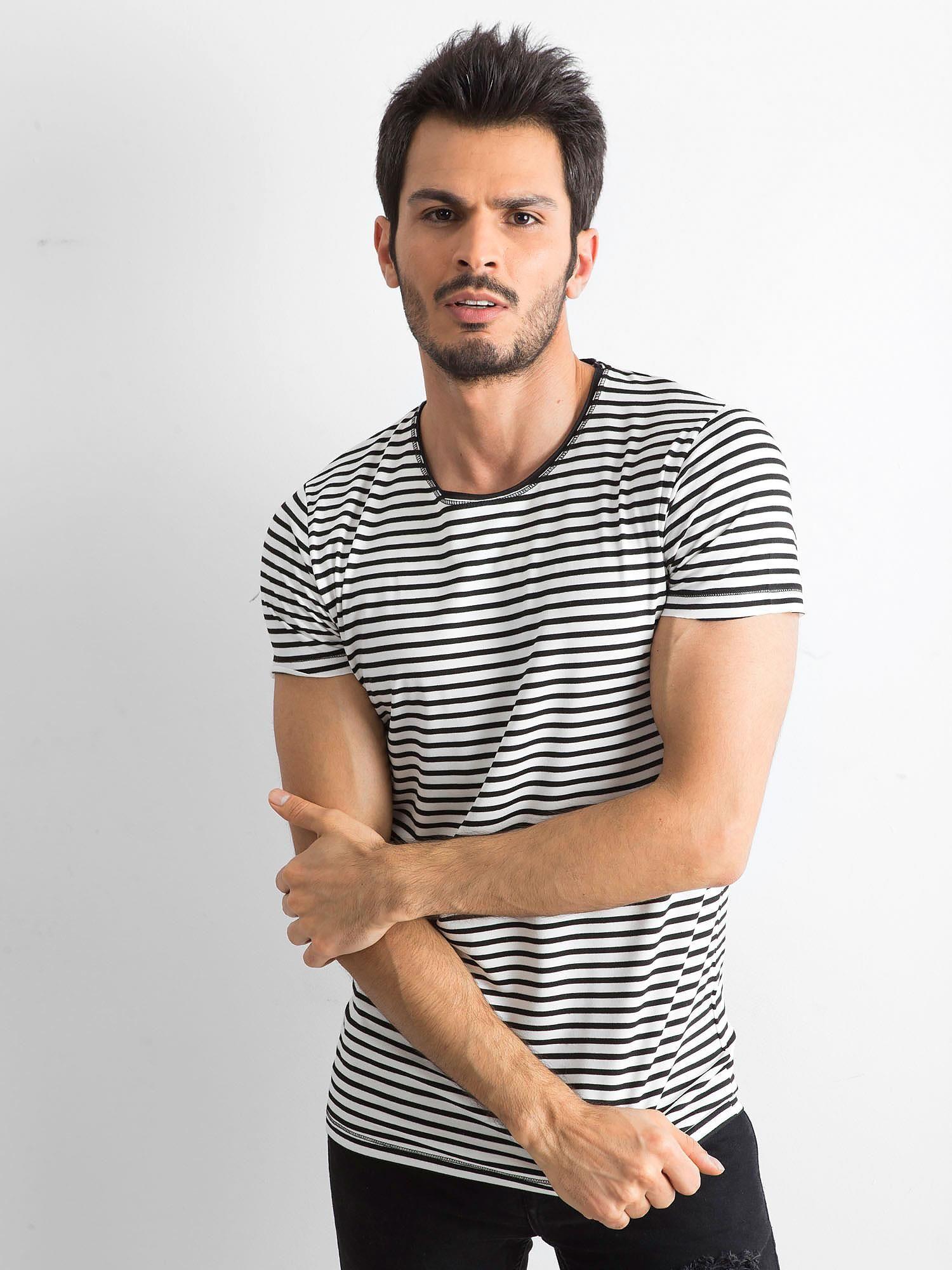 Pánské tričko Ecru s černými pruhy