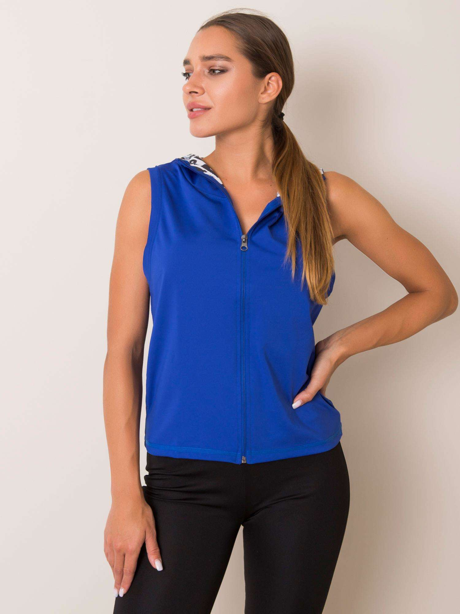 PRO FITNESS Tmavě modrá sportovní vesta