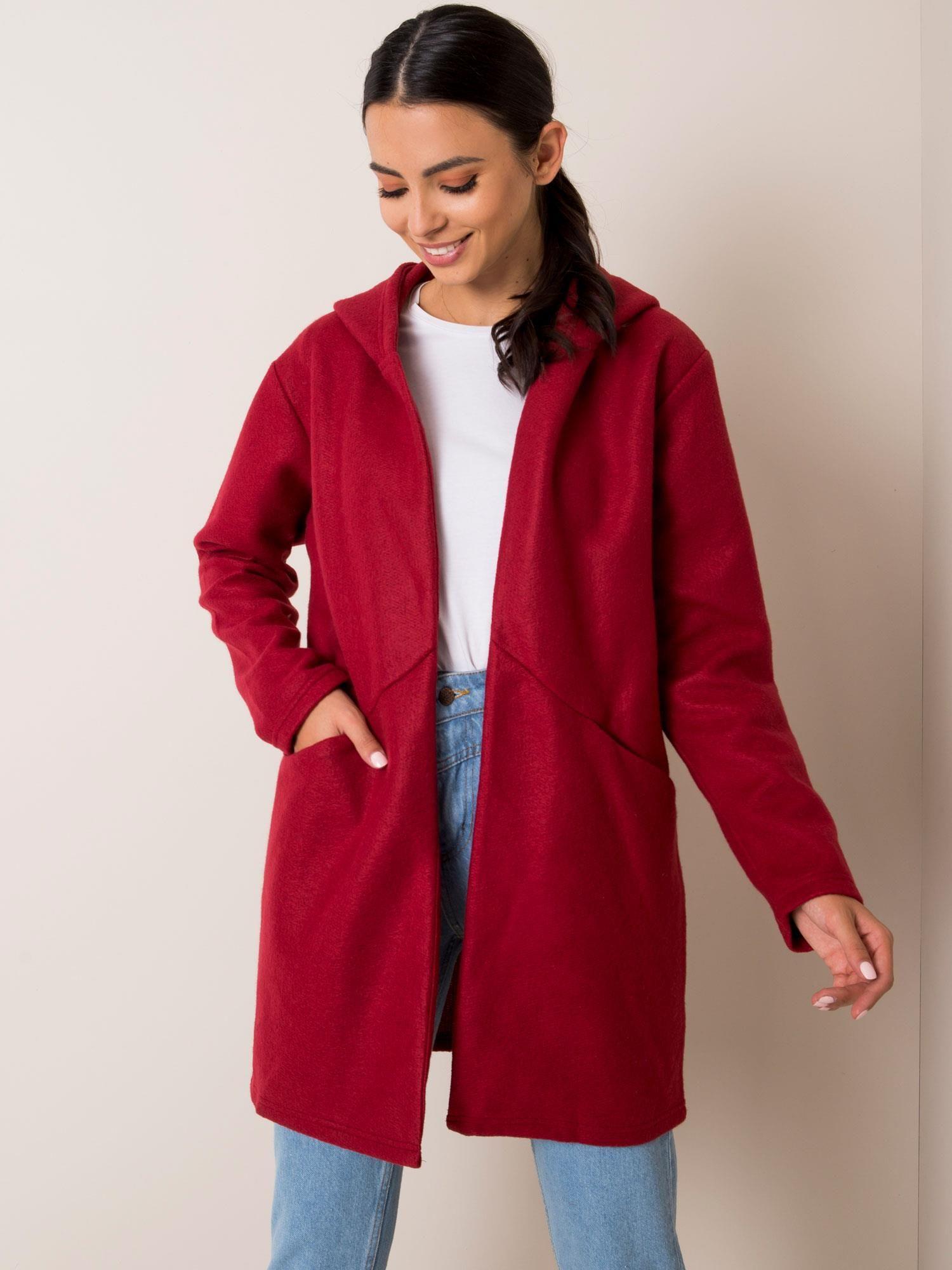 Kabát SUBLEVEL Maroon s kapucí