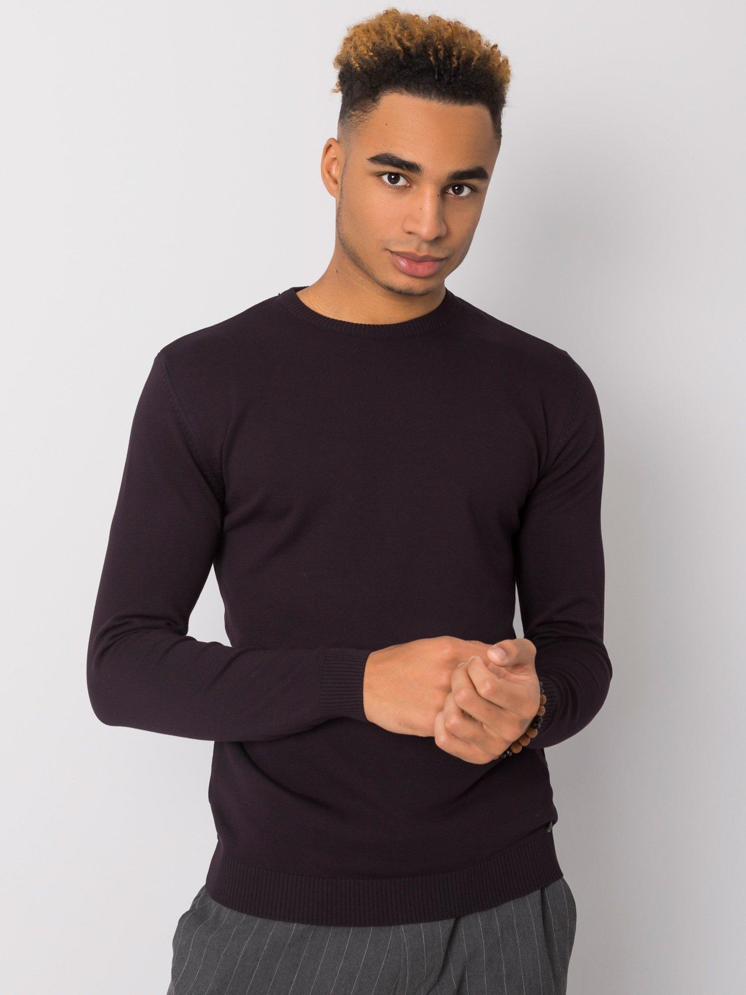 Tmavě fialový svetr pro muže LIWALI