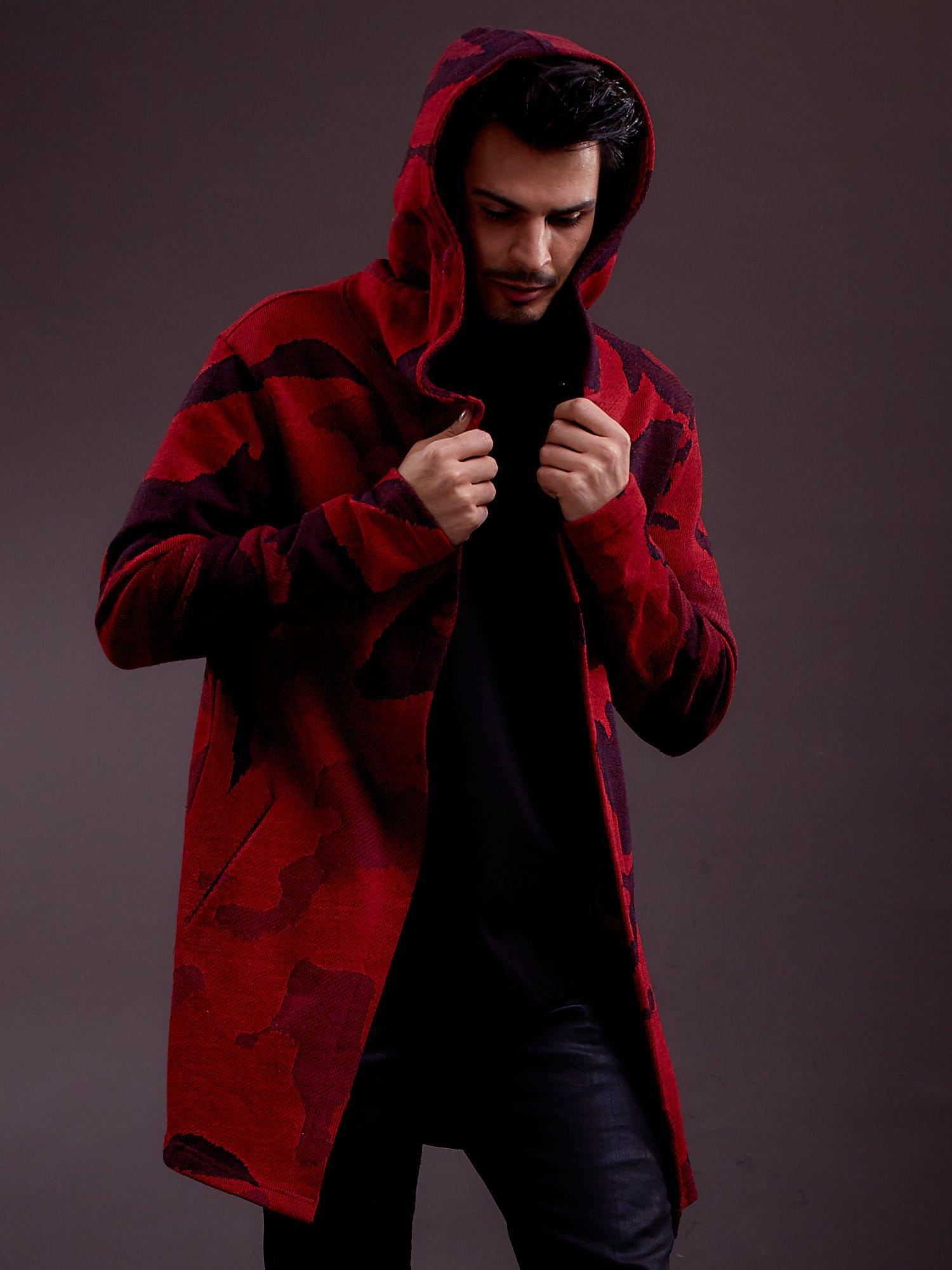 Pánská červená pláštěnka