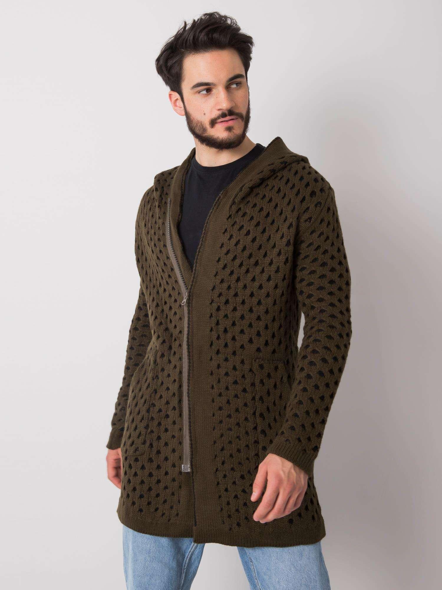 Khaki pánský svetr