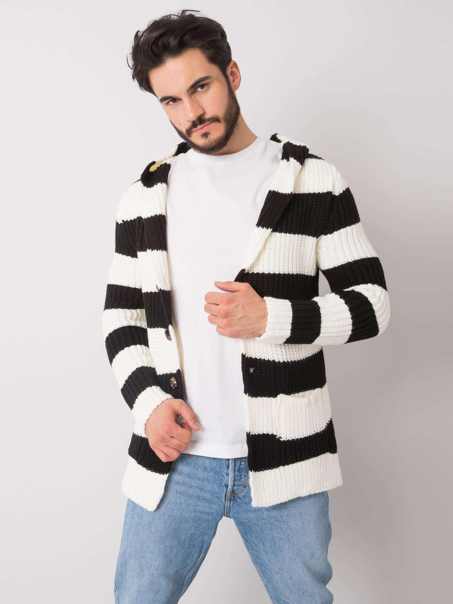 Pánský svetr v černé barvě
