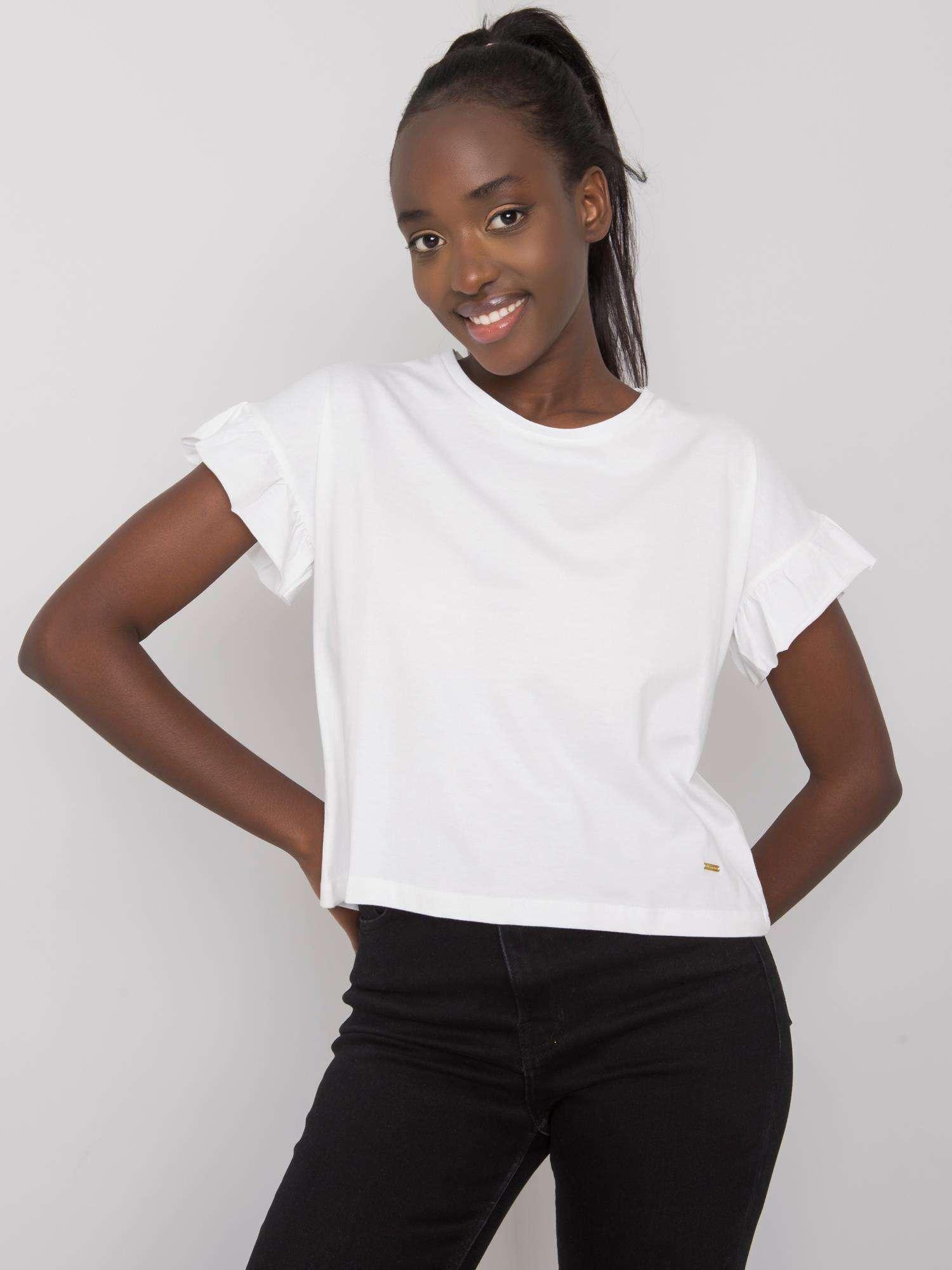 Dámské dámské bavlněné tričko s dlouhým rukávem