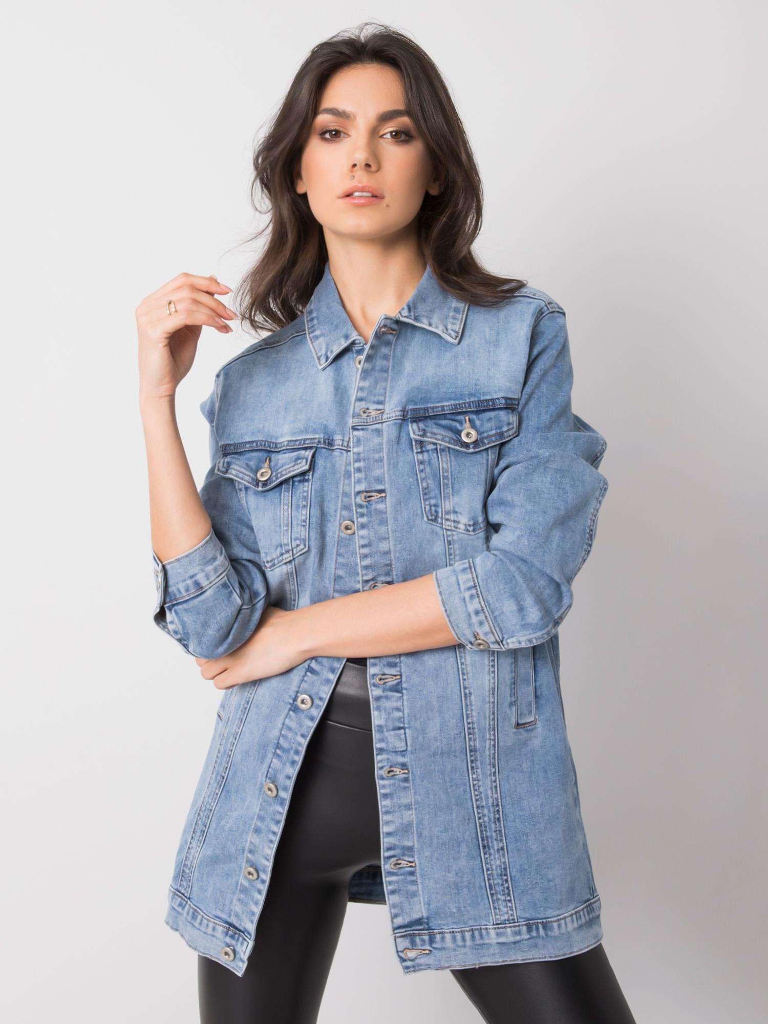Dámská modrá džínová bunda