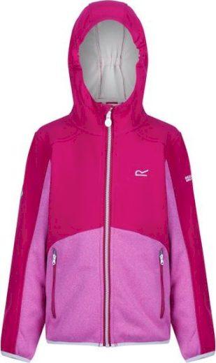 Dětská softshellová bunda  REGATTA RKL090 Bracknell Růžová