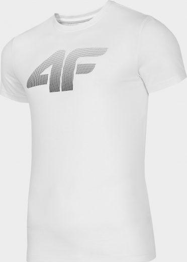 Pánské bavlněné tričko 4F TSM302 Bílé