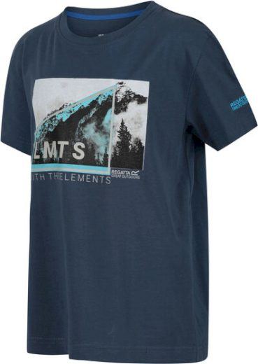 Dětské tričko REGATTA RKT106 Bosley III Modro šedé