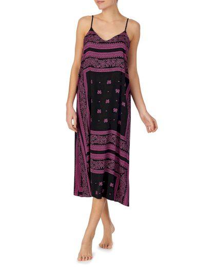 Noční košilka YI2622407-002 fialovočerná - DKNY