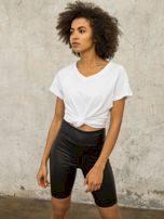 Bílé tričko FOR FITNESS s výstřihem do V