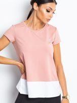 Pudrově růžové sportovní tričko TOMMY LIFE