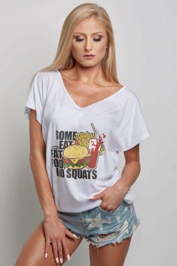 Dámské tričko - Fast Food - Gym Glamour