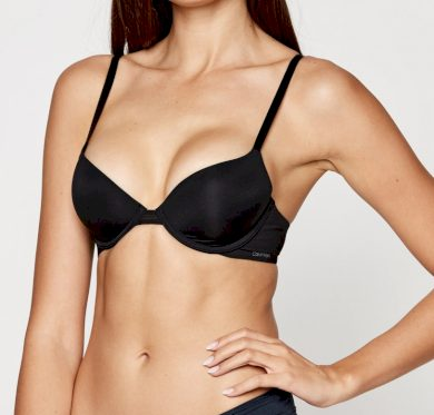 Dámská podprsenka Calvin Klein vyztužená s kosticemi černá (QF9005E-UB1)
