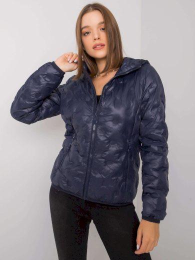 Dámská přechodná bunda v tmavě modré barvě