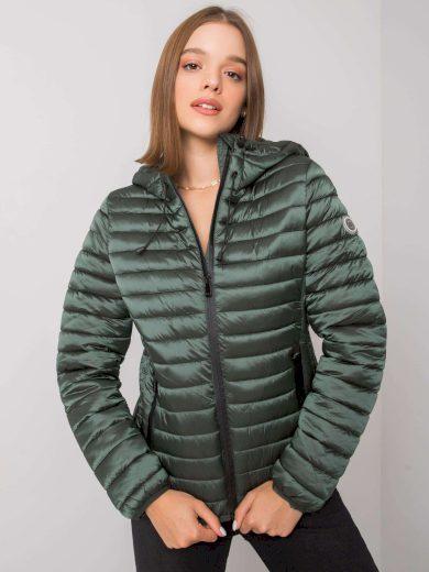 Zelená přechodná bunda s kapucí