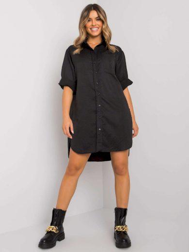 Černá dlouhá košile z bavlny
