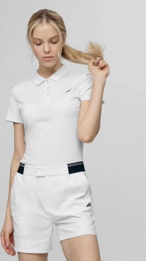 Dámské polo tričko 4F TSDF080 Bílé