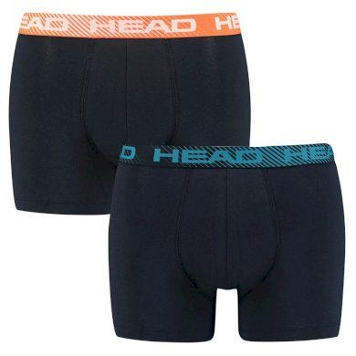 2PACK pánské boxerky HEAD tmavě modré (701202740 002)