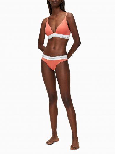 Podprsenka bez kostice QF5650E-GPT oražová - Calvin Klein