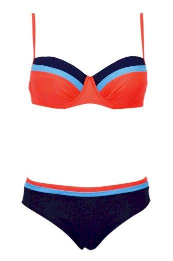 Dvoudílné plavky ,model 50325 Ewlon ,RODOS šedo-modrá 40