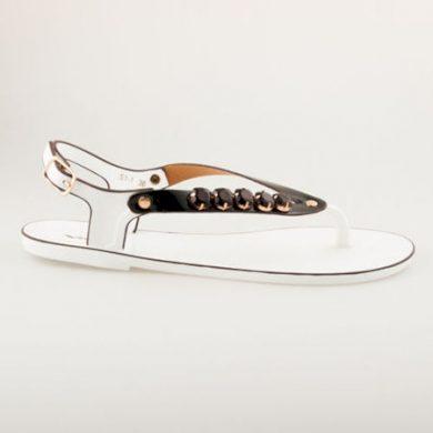 Fantastické bílo-černé gumové sandály