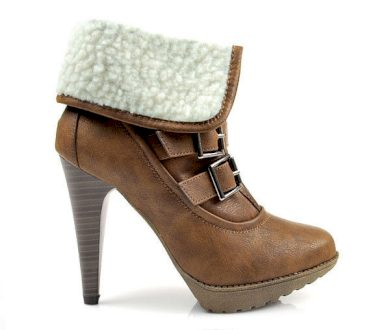 Teploučké hnědé kotníčkové boty