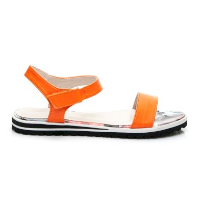 Luxusní dámské sandále - oranžové
