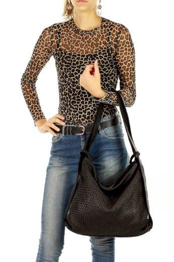 Dámská přírodní kožená taška model 139485 - Mazzini