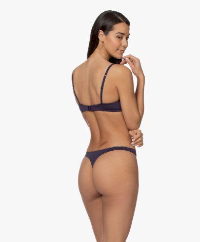 Dámská podprsenka QF5954E-7TP modrá - Calvin Klein
