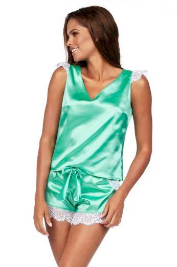 Luxusní saténové pyžamo Alla mint