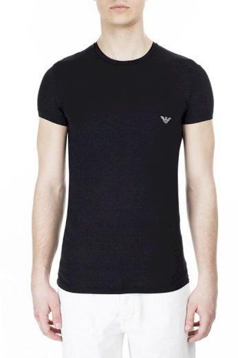 Pánské tričko 111341 0P511 00020 černá - Emporio Armani