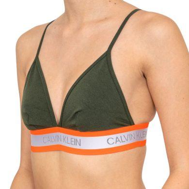 Podprsenka bez kostic QF5669E-FDX khaki - Calvin Klein