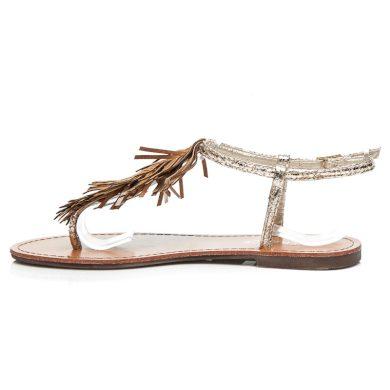 Parádní zlaté sandály s třásněmi
