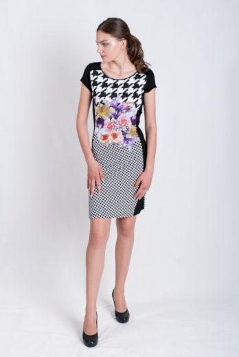 Dámské šaty Koha černobílá - Favab