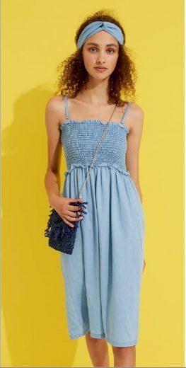 Dámské džínové šaty 2v1 LA1958PB - Noidinotte