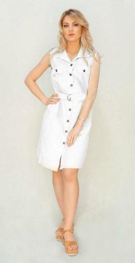 Bílé košilové šaty (397ART)