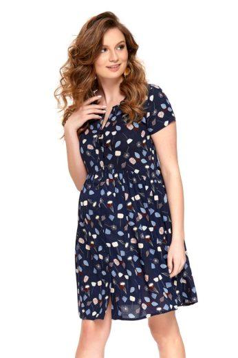 Letní mateřské šaty Ivona tmavě modré