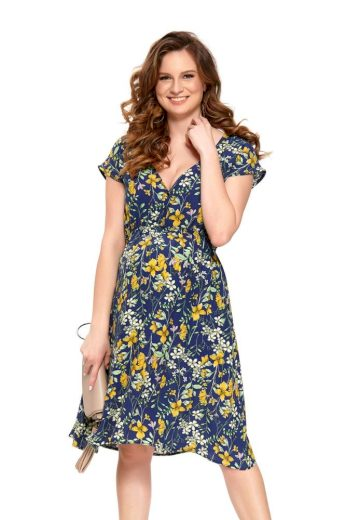 Letní mateřské šaty Marcela modré